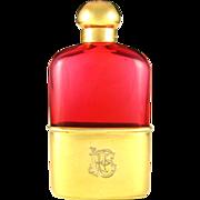 SALE Antique English Gilt Vermeil Sterling Silver Mounted Liquor Whiskey Hip Flask, Rare Cranb