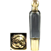 SOLD Antique French Sterling Silver & Cut Glass Opera 'Spirits' Liquor Flask