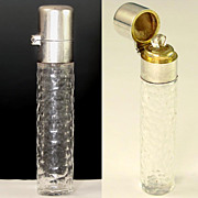SALE Antique French Hallmarked Silver & Glass Scent Perfume Bottle