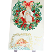 SALE With Best Christmas Wishes Postcard - 1909