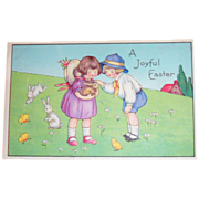 A Joyful Easter Postcard - Marked
