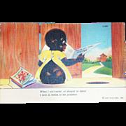 Curteich: Black Americana, When I Ain't Eatin' Postcard