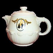 Hall China Silhouette Pattern Drip-O-Lator Coffee Pot - Marked