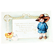 Whitney: I Send This Little Greeting....Easter Postcard - Marked