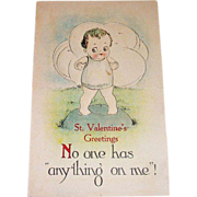 B&S St. Valentine's Greetings Postcard