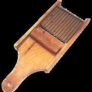 Primitive Wood & Metal Slaw Cutter