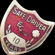 SALE Coca Cola 10 Year Safe Driver Award Pin