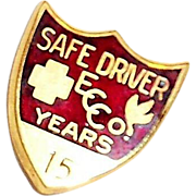 SALE Coca Cola 15 Years Safe Driver Award Pin