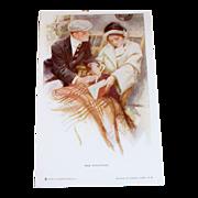 "Vintage ""The Proposal"" Postcard Signed By Artist Harrison Fisher"