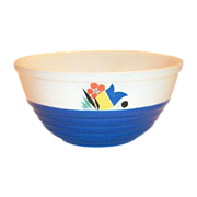 "Universal Potteries 6 1/4""Rd Modern Floral Design Bowl"