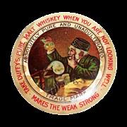 SALE Vintage Duffy's Pure Malt Whiskey Round Pocket Advertising Mirror
