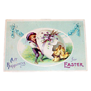 Int'l Publishers: All Happiness For Easter Postcard