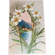 Best Easter Wishes 1909 Vintage Postcard