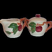 Franciscan Apple Lidded Sugar & Creamer Set