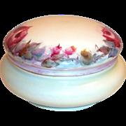 Favorite Bavaria Hand Painted Rose Design Covered Powder Dish
