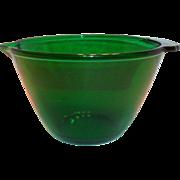 Anchor Hocking Green Transparent Glass Batter Bowl