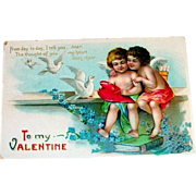 To My Valentine Postcard - 1910