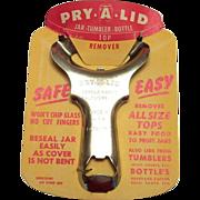 Vintage 1960's Pry-A-Lid Jar Lid Remover