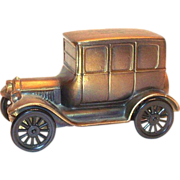 SOLD 1960's-70's Brass 1926 Ford Replica Car Advertising Bank