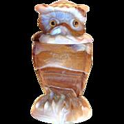 Imperial Slag Glass Owl Jar