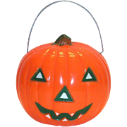 Vintage Union Products Plastic Battery Operated Jack-O-Lantern - 1950's
