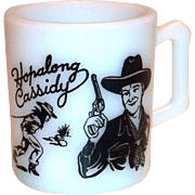 Vintage Children's Hopalong Cassidy Glass Mug
