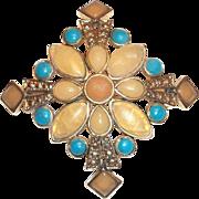Lovely Monet Diamond Shaped Cross Pin