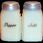 Vintage McKee Roman Arch Custard Colored Salt & Pepper Set
