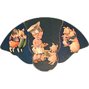 SOLD Vintage 1940's-50's Cardboard Expandable Advertising Fan