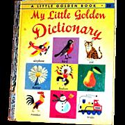 Vintage Little Golden Book: My Litle Golden Dictionary, 1949, E Edition