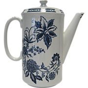 SALE Barker Bros. Ltd. Cathay Blue Coffee Pot and Lid