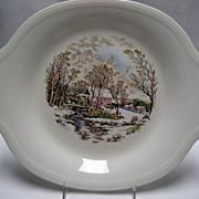 SALE 2 Edwin M. Knowles Platters - Winter Scenes