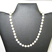 SALE Monet Cream Colored Beaded Necklace