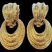 Avon Gold Tone Door Knocker Earrings