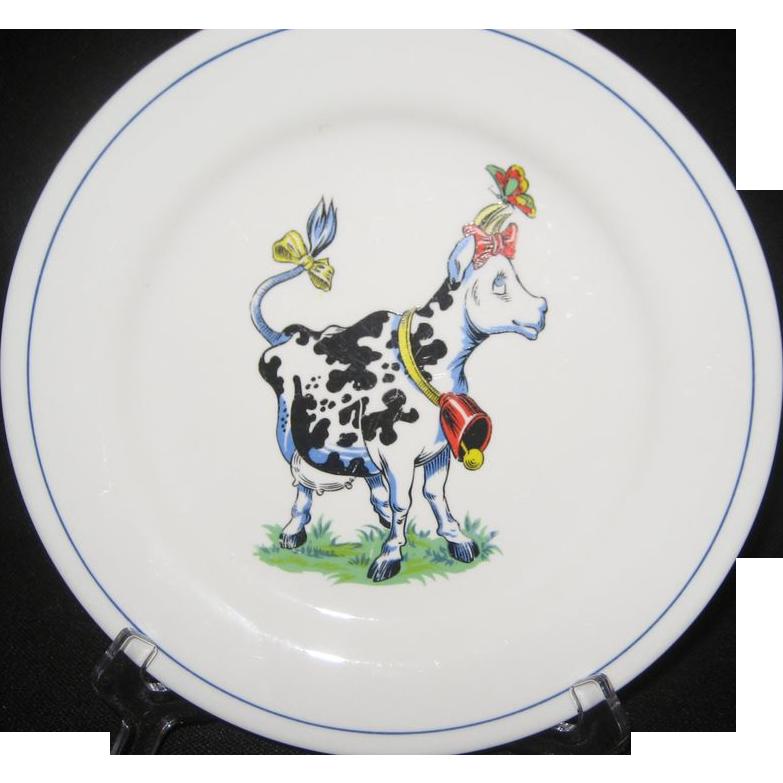 Homer Laughlin China Cow Plate