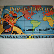 SALE Pirate and Traveler Board Game - 1953
