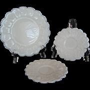 SOLD 3 Westmoreland Paneled Grape Plates