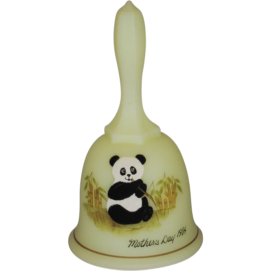 Fenton Mother S Day Bell 1984 Panda From Thedaisychain