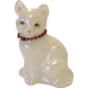 Fenton Opal Birthstone Cat - October - Rose Zircon