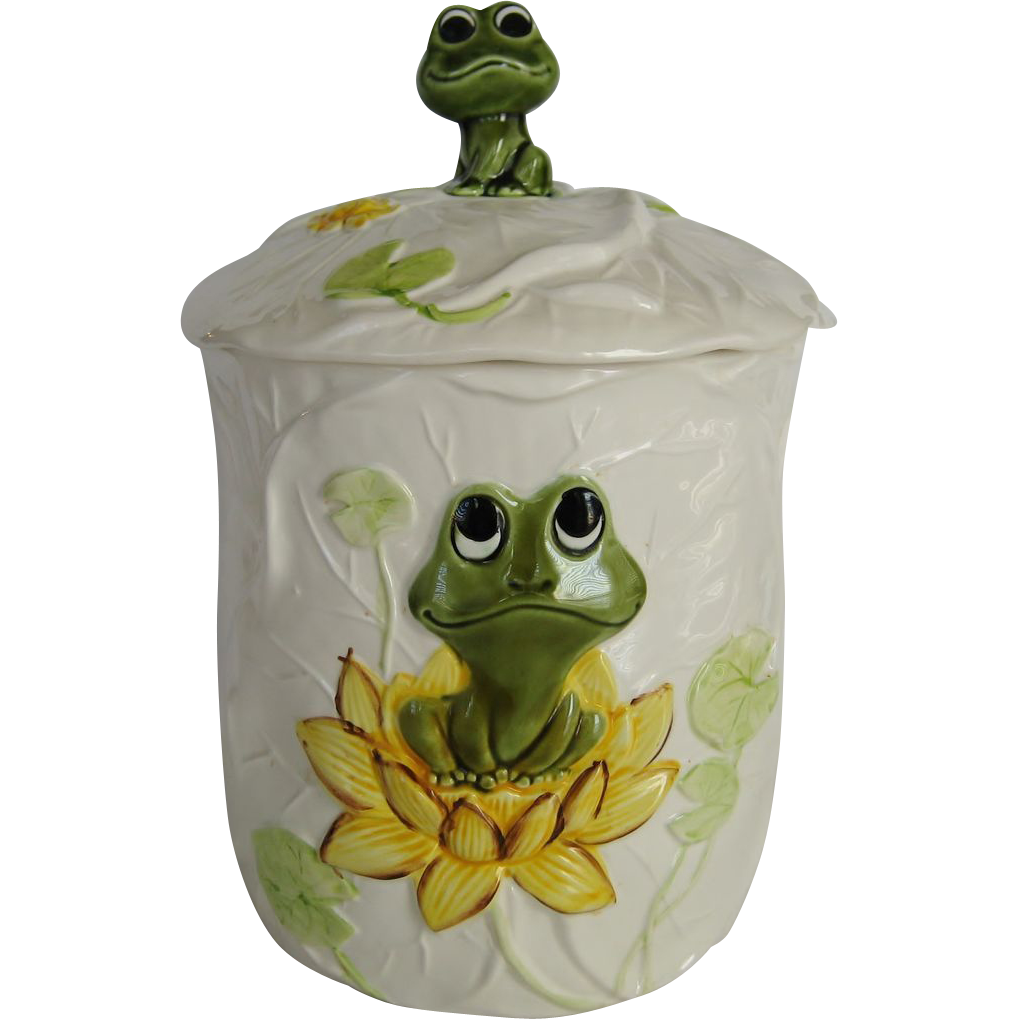 Sears Frog Family Large Canister Or Cookie Jar 1977 From Thedaisychain On Ruby Lane