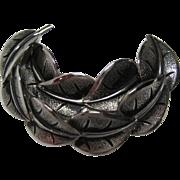 SALE Marvella Silvertone Leaf Pin/Brooch