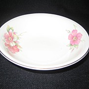 Homer Laughlin Wild Pink Rose Cereal Bowls - 8 Available