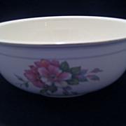 Homer Laughlin Wild Pink Rose Salad Serving Bowl - 1941