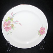 Homer Laughlin Wild Pink Rose Salad Plates - 12 Available