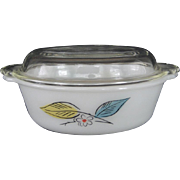 SALE Fire King Biscayne Covered Casserole