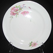 Homer Laughlin Wild Pink Rose Dinner Plates - 7 Available