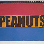 SALE Peanuts 1972 Date Book