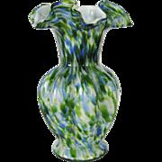 Fenton Green Aventurine Vasa Murrhina Vase