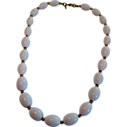 Monet White Beaded Necklace