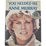 Anne Murray - You Needed Me - Sheet Music